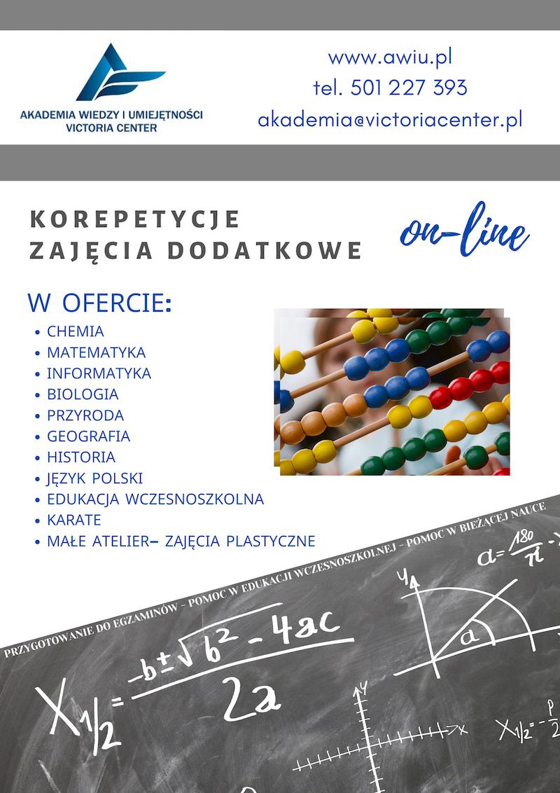 Korepetycje OnLine Akademia Wiedzy i Umiejętności